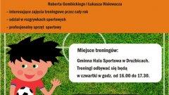 Plakat - nabór do szkółki piłkarskiej